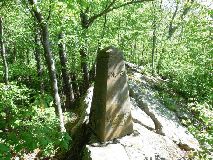 Here's one of the many historical markers found on the mountain.