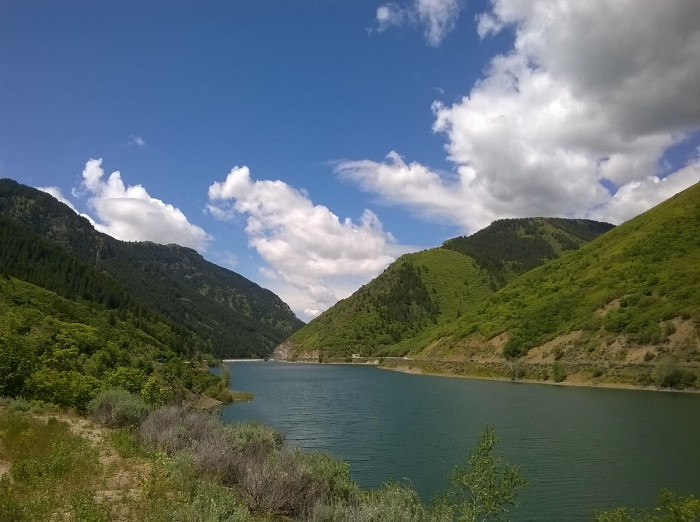 After breakfast, drive up Ogden Canyon to Pineview Reservoir.