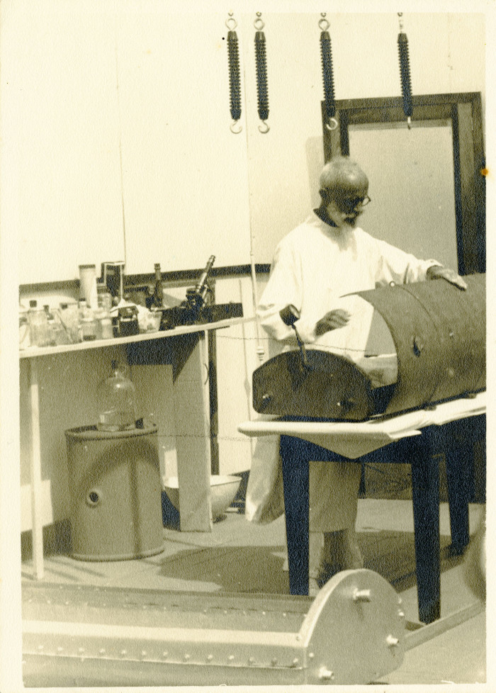 Carl Tanzler, aka Count Carl von Cosel, at work as a radiologist at the U.S. Marine Hospital in Key West