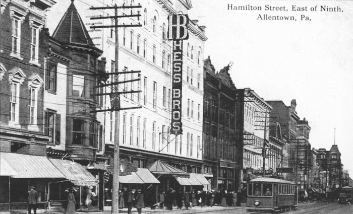 7. The Hess' Brothers Department Store in Allentown used to be a major landmark in eastern PA. This photo was taken around 1915.