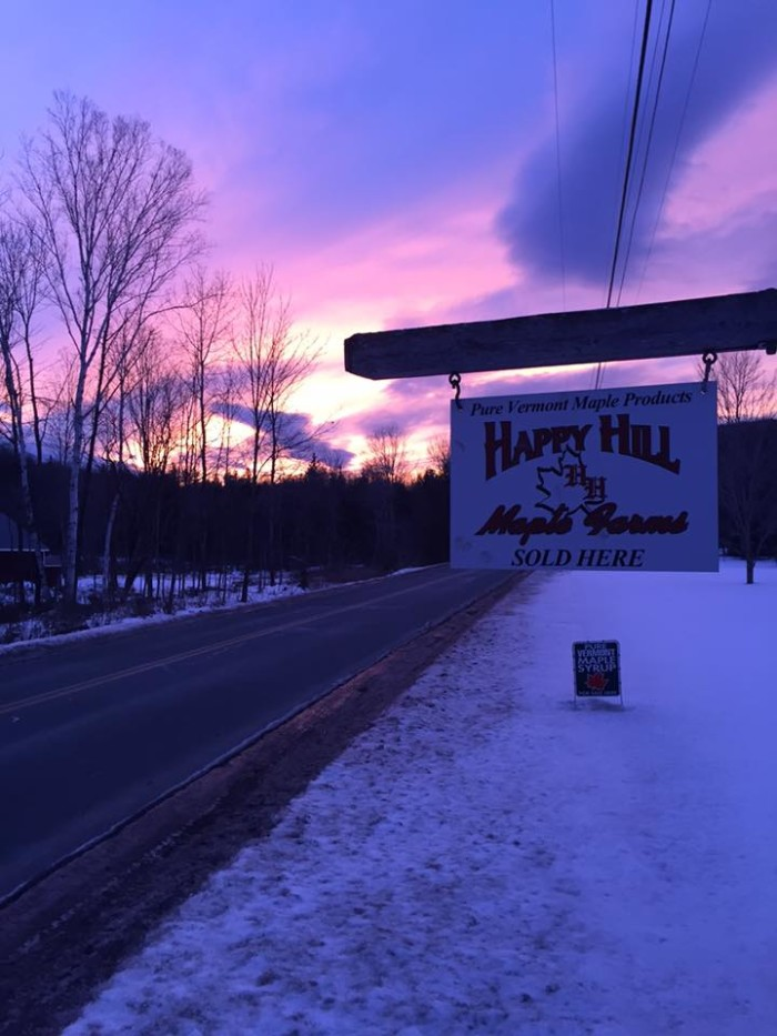 6.  Happy Hill Maple Farms - 3092 S. Wheelock Road, Sheffield
