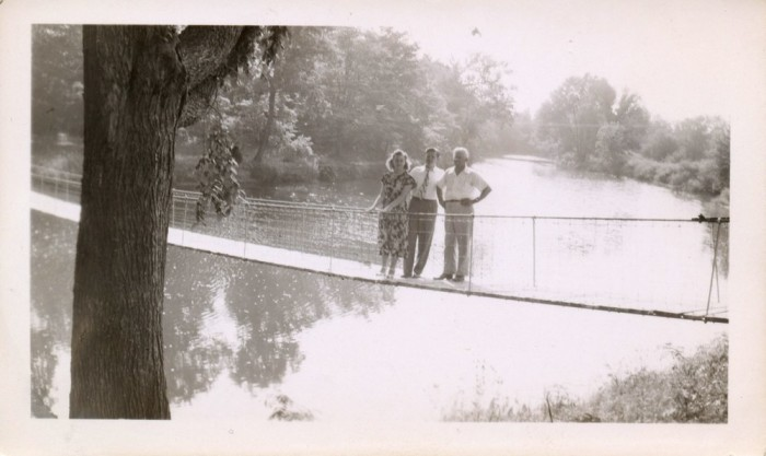 Pictured here, a family visiting the bridge in 1948.