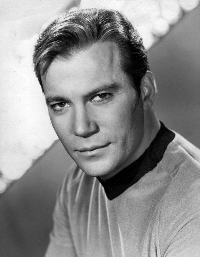 """As the captain of the Enterprise, Kirk (most famously played by William Shatner) leads his crew as they explore """"where no man has gone before."""""""
