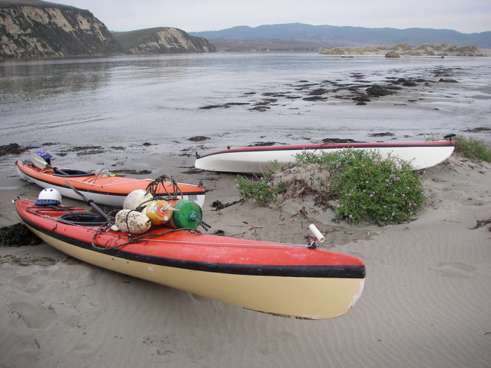 5. Struggle: Losing your kayak during a surprise high-tide.