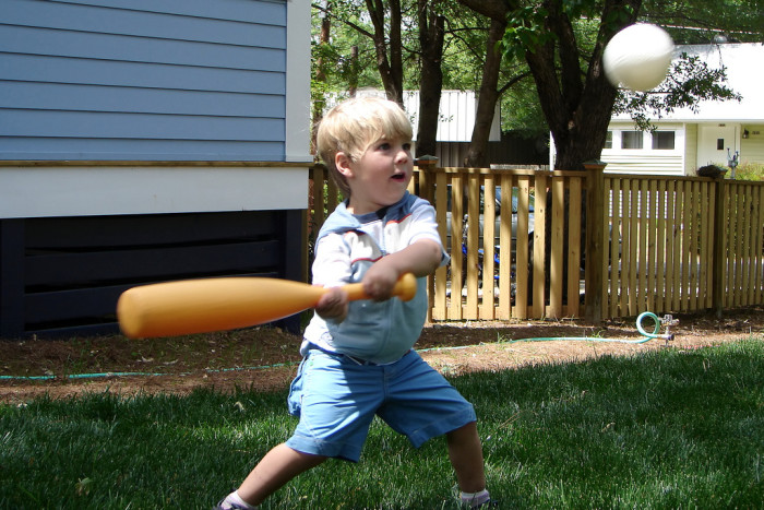 1. We rounded up siblings, friends and strangers for a pick up game of baseball in someone's yard or at the park.
