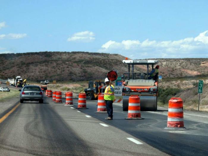 5. Year-round construction. Did New Mexico bulk order orange barrels?