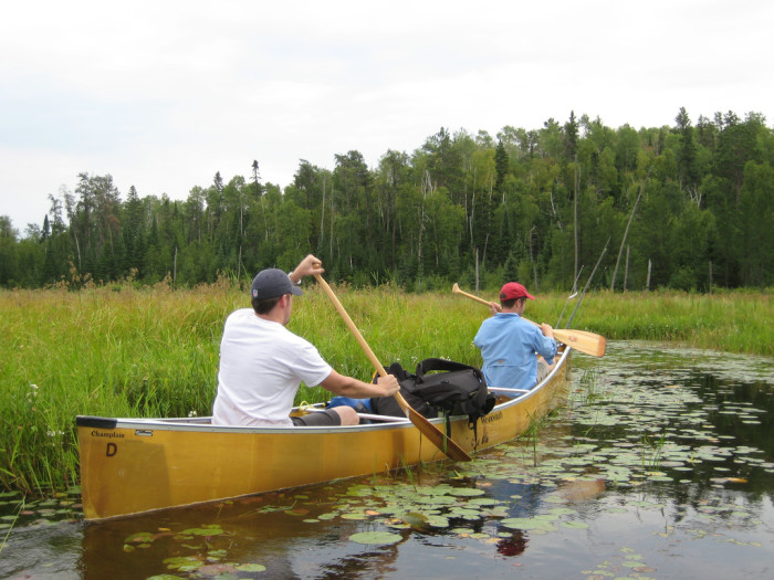 The BWCA has over 1200 miles of canoe routes, 12 hiking trails and 2000 campsites.