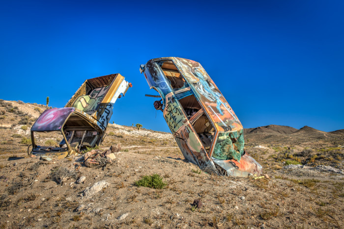 9. The International Car Forest of the Last Church in Goldfield, Nevada.