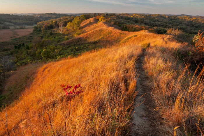 12. Take a driving tour across western Iowa on the Loess Hills Scenic Byway, and stop off for a little hiking at Preparation Canyon.