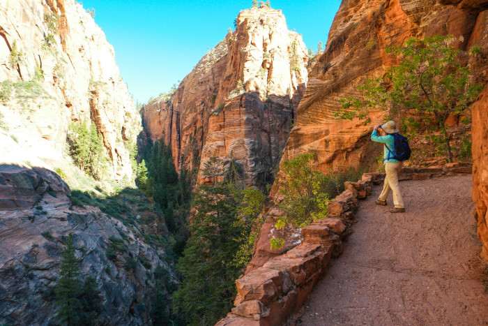10. Hike Angel's Landing at Zion National Park.
