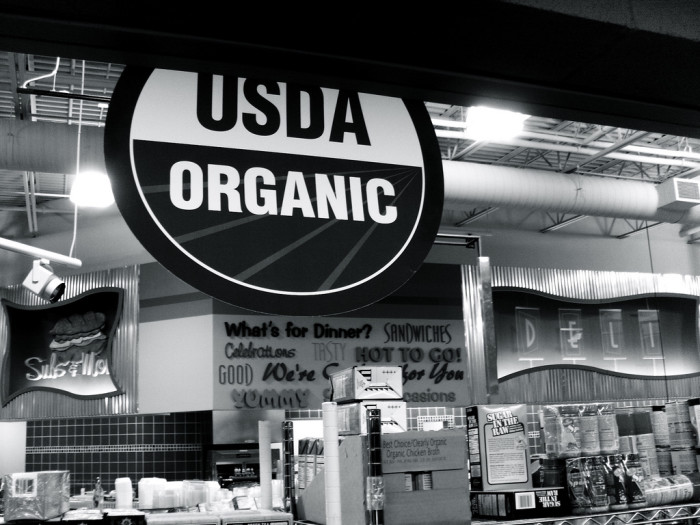 7.) All we eat is organic...