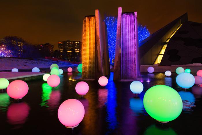 9.) ...walk along the Blossoms of Light at Denver Botanic Gardens...