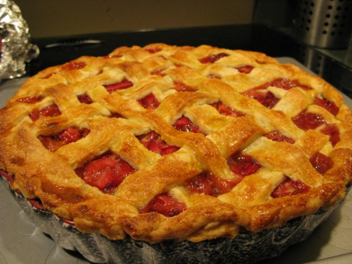 12.  Strawberry rhubarb pie