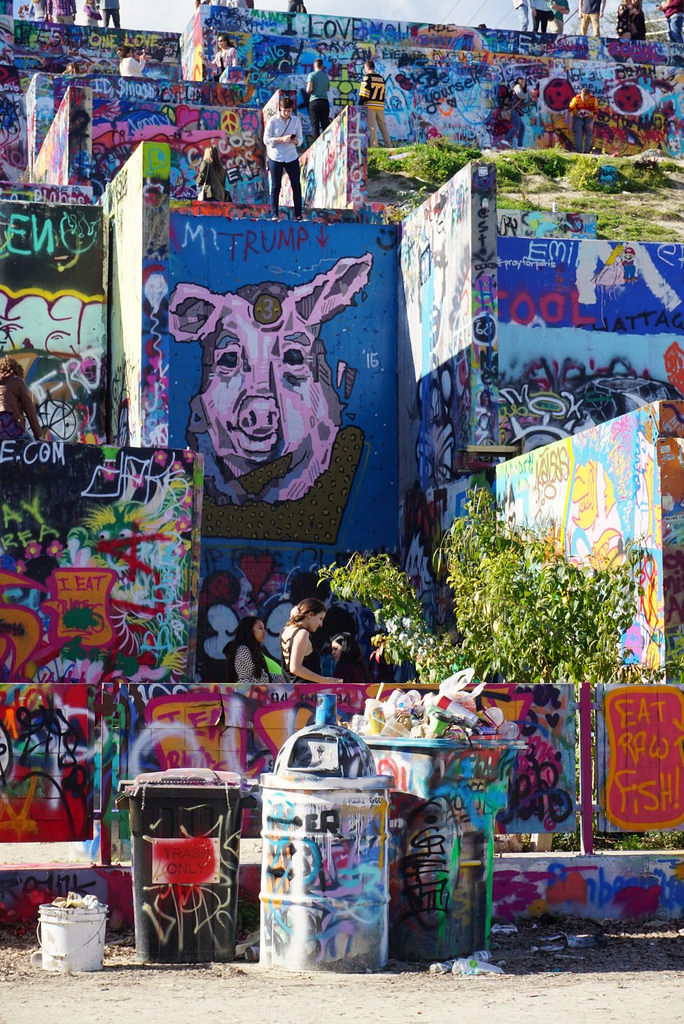 8. Austin is not an artsy city - No, we're not artsy. We just welcome any artist to express themselves all over the walls of Castle Hill.