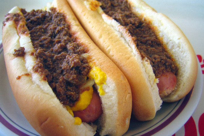 13. Have chili dogs for dinner.