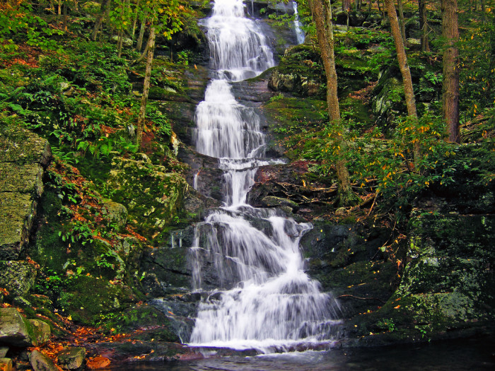 Your hike will start here, at Buttermilk Falls.