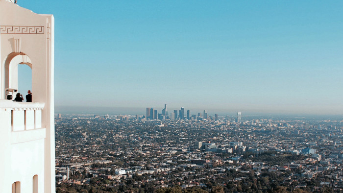 10. This view from the Griffith Observatory in Los Angeles  is definitely movie-worthy.