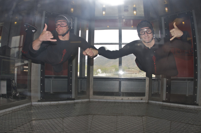 Fly in a wind tunnel at iFly.