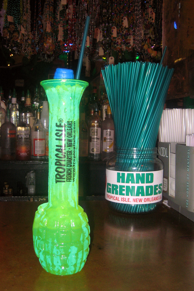 10) Drink a Hand Grenade from Tropical Isle on Bourbon Street