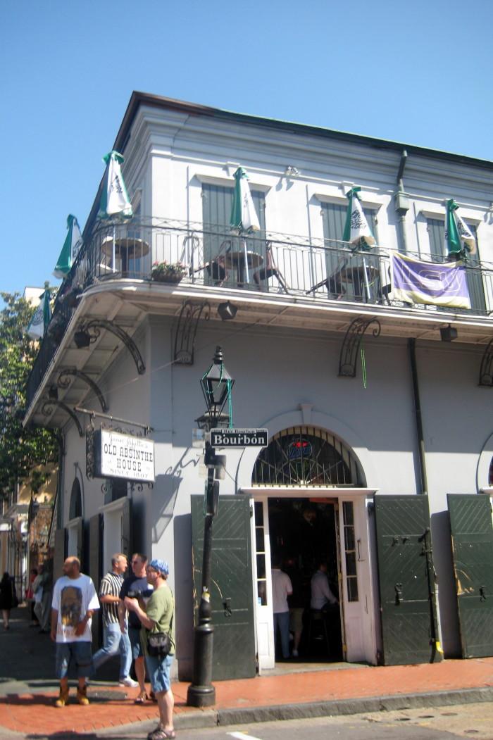 5) Jean Lafitte's Old Absinthe House, 240 Bourbon St.