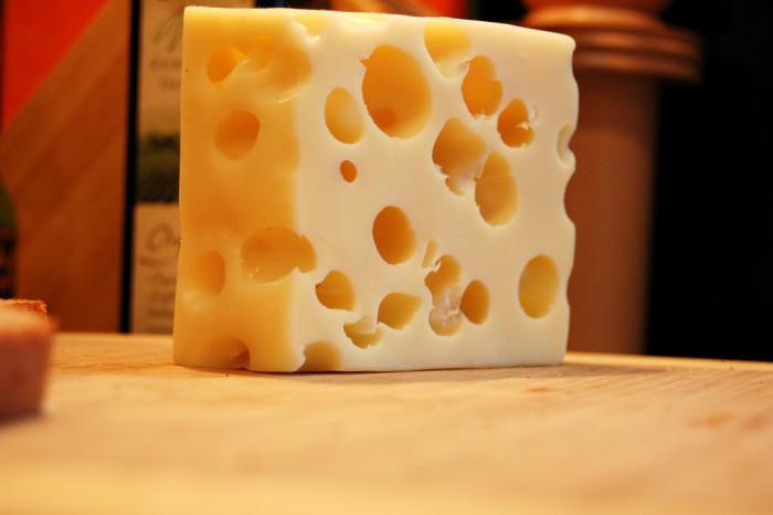 7. Producing Swiss cheese