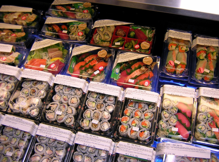 14. Nowhere else but Dillons can you sample fresh sushi...