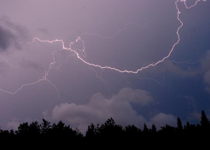 10.  Lightning strikes.
