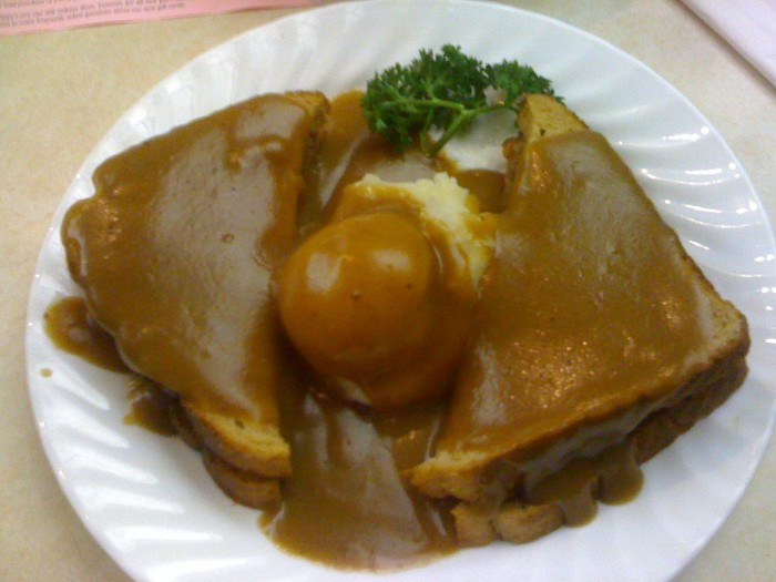6. Hot Beef Sandwich