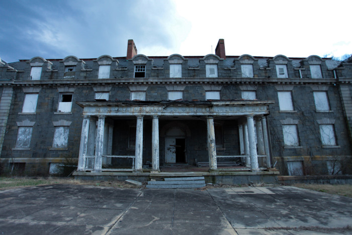 Quite a few buildings still remain standing at the The Tome School campus.