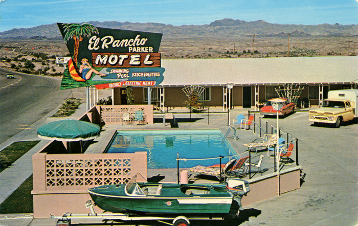 8. Remember when roadside motels used to look like this? This one was in Parker in the 1960s.