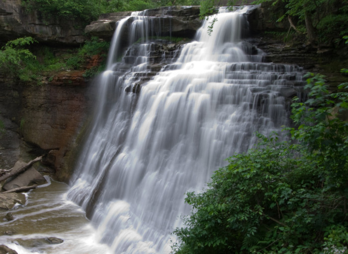 1. Hike to Brandywine Falls and tour the Cuyahoga Valley via train.