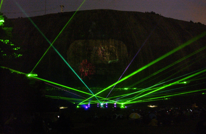 15. Or take the kids to see the free laser light show at Stone Mountain Park.