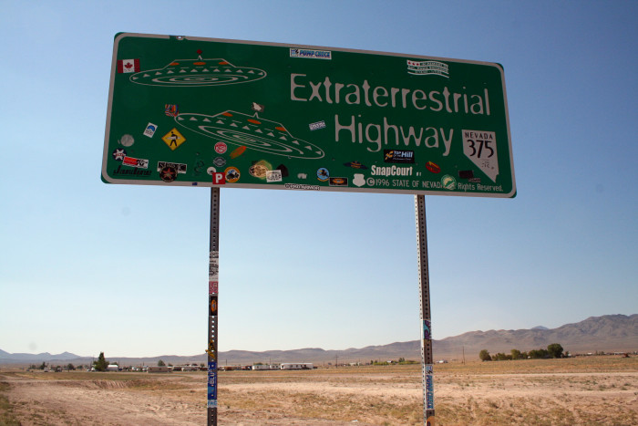 5. Take a drive down the Extraterrestrial Highway to see if you can spot any UFOs.