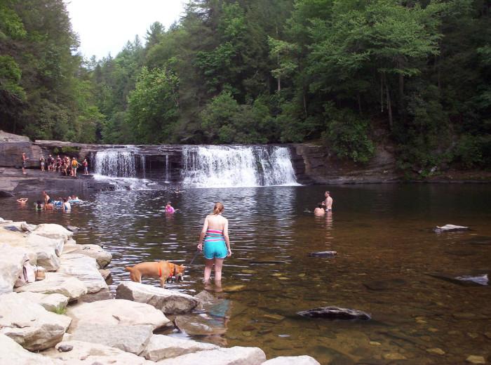 2. Take a cool dip at Hooker Falls.