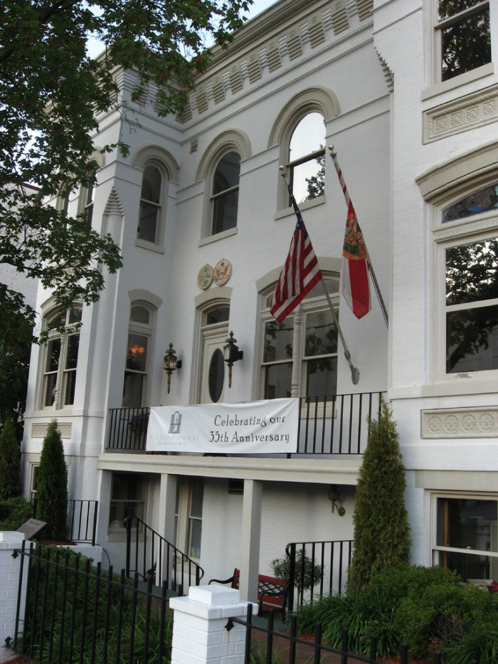 1. The Florida House is the only embassy for a state in Washington, D.C.