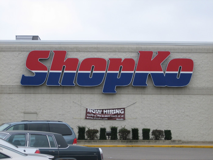 6. You refer to all stores in the possessive (Shopko's, Piggy Wiggly's, Kroger's, Wal-Mart's).