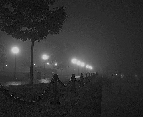 9. This foggy night in Newport made for a wonderful shot.