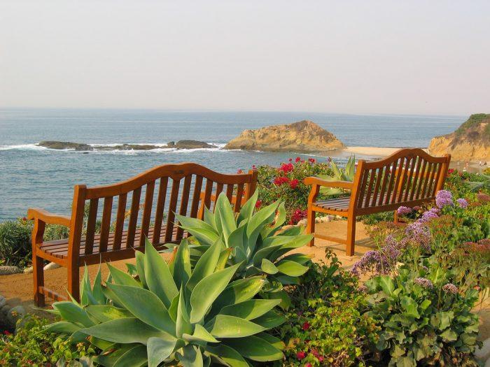 10. Ocean View Benches -- Laguna Beach