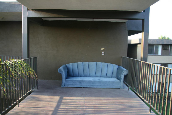 9.) ...and to set your couch outside.