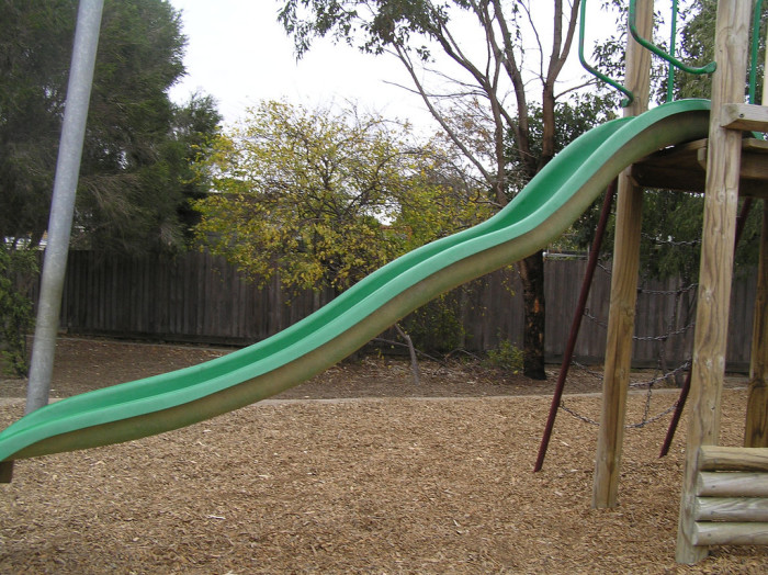 6. You know that the proper terms for these are slippery slide...