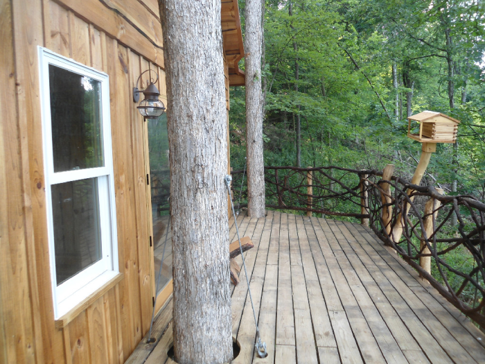 14. Book a weekend away in a cabin or treehouse.