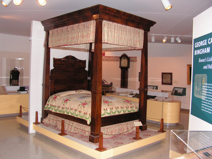 29. Four poster bed at Visitor Center Museum, Arrow Rock