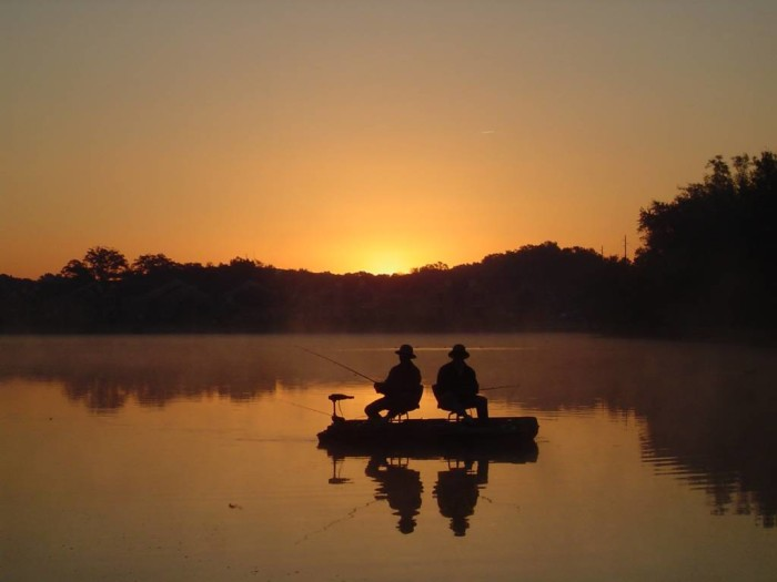 4. You've become accustomed to the best fishing and...