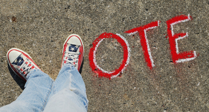 5. Trying to get excited about voting.