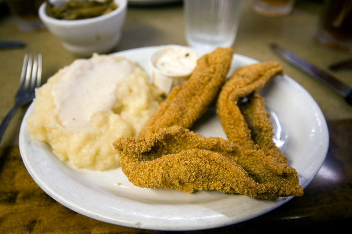 3. To you, catfish comes one way – fried.