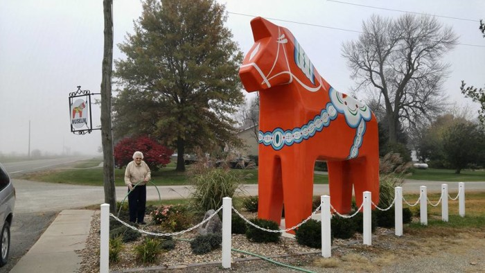 Next to the museum is a giant Dala horse, whom the locals call Ole. Dala horses are widely recognized as a symbol of Sweden.