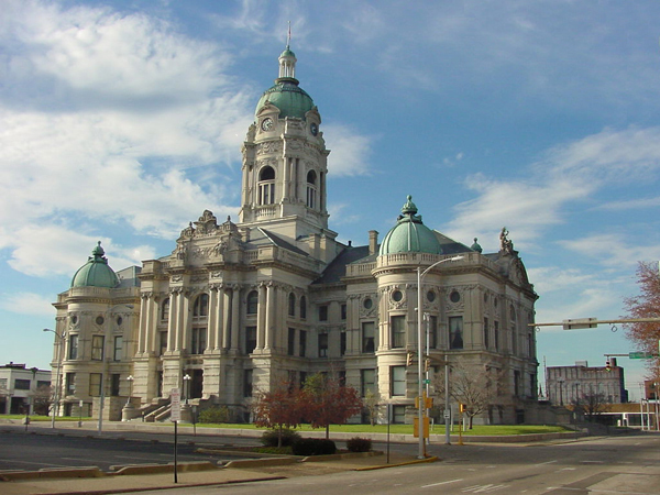 15. Old Vanderburgh County Courthouse in Evansville, Indiana.