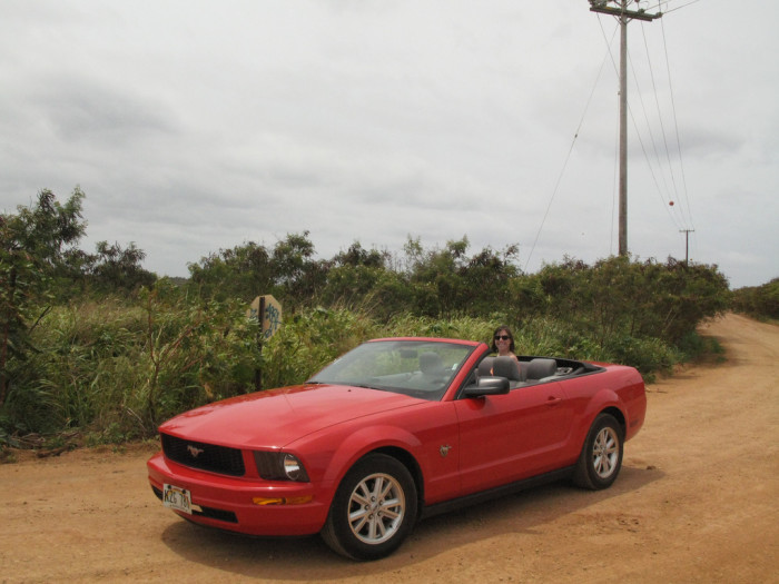 3. Most tourists can be spotted by their rental vehicles: shiny new sports cars on old, worn-down roads.
