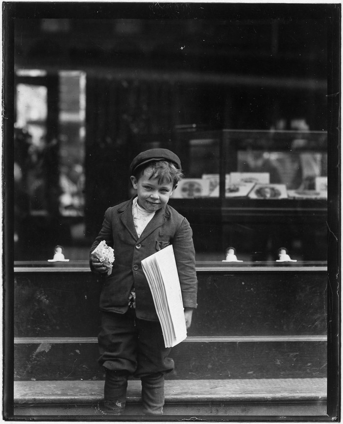 3.Tommy Hawkins, another 5-year-old who sells papers in St. Louis. He is 41 inches tall. May 1910.
