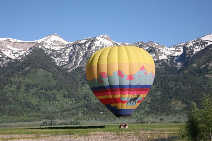 8. Hot Air Balloon Rides In The Grand Tetons